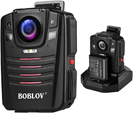 BOBLOV HD 1296P A7 64GB Wide Angle Ultra Police Security Body Worn Camera Inf...