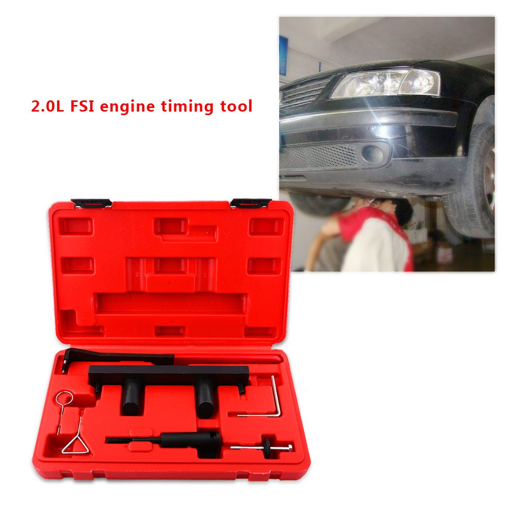Engine Timing Tool Set,Pack of 7pcs Auto Repair Professional Tools Camshaft Alignment Timing Tool Kit for AUDI VW 2.0L FSi TFSi by Estink (Image #2)