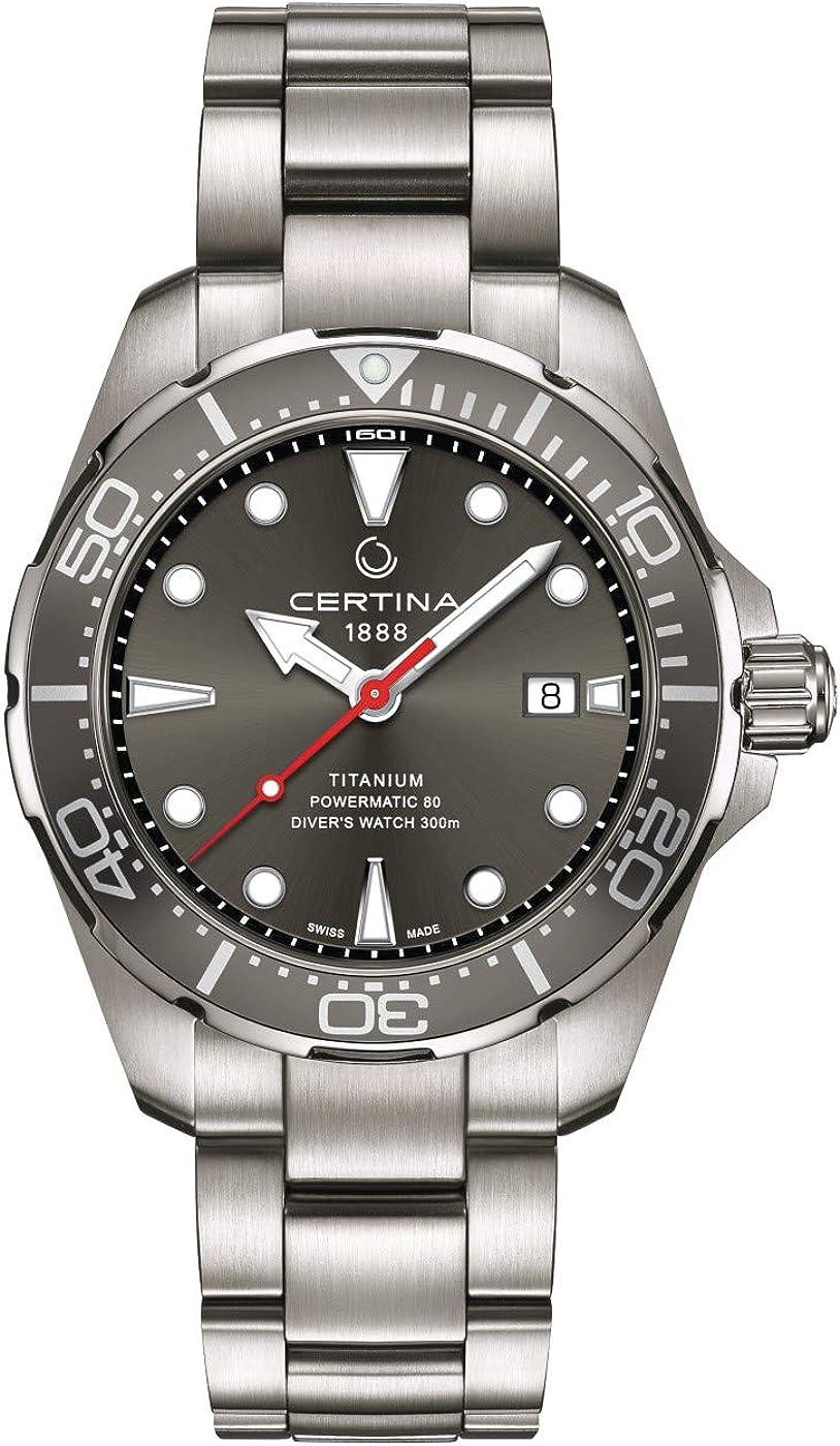 Certina DS Action Diver reloj automático de los hombres de esfera gris C032.407.44.081.00