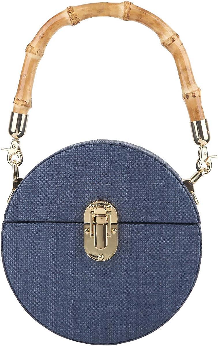 Fawziya Bamboo Purse Straw Clutch Summer Evening Handbag