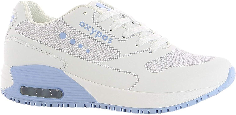 Oxypas Sport - Zapatillas de trabajo Ela, antiestáticas (ESD) de piel para mujer. En muchos colores: Amazon.es: Zapatos y complementos