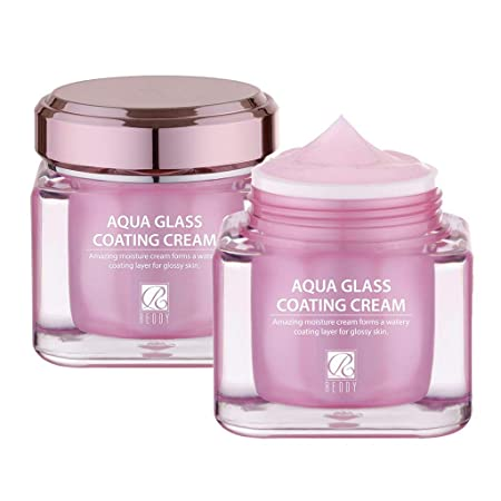 REDDY Aqua Glass Coating Cream 50g, Water Coating Moisture Cream, for Dewy Glow Base Make up Skin Care