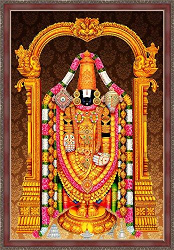 Art Factory Tirupati Balaji Lord Venkateswara Canvas Painting With