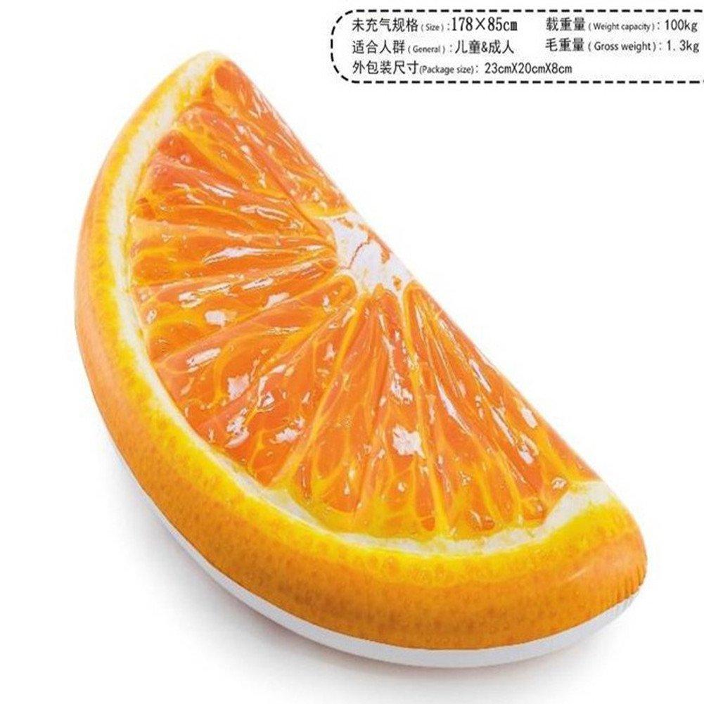 GQQ Fila Flotante Naranja Inflable Cama Flotante De La Foto De La Nadada De Verano Cama De Agua De Los Niños Adultos