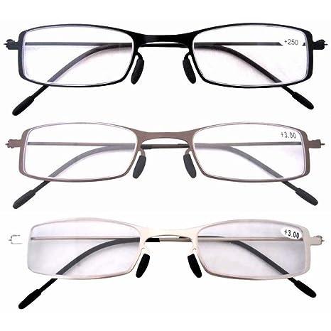 Chaussures de skate grande sélection jolie et colorée Eyekepper Lot de 3 Paires lunettes de lecture de vue pour homme et femme