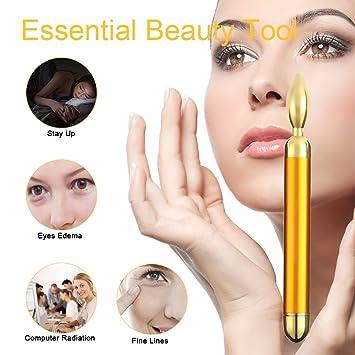 Amazon.com: Tosun 24 K dorado Eye masajeador varita ...