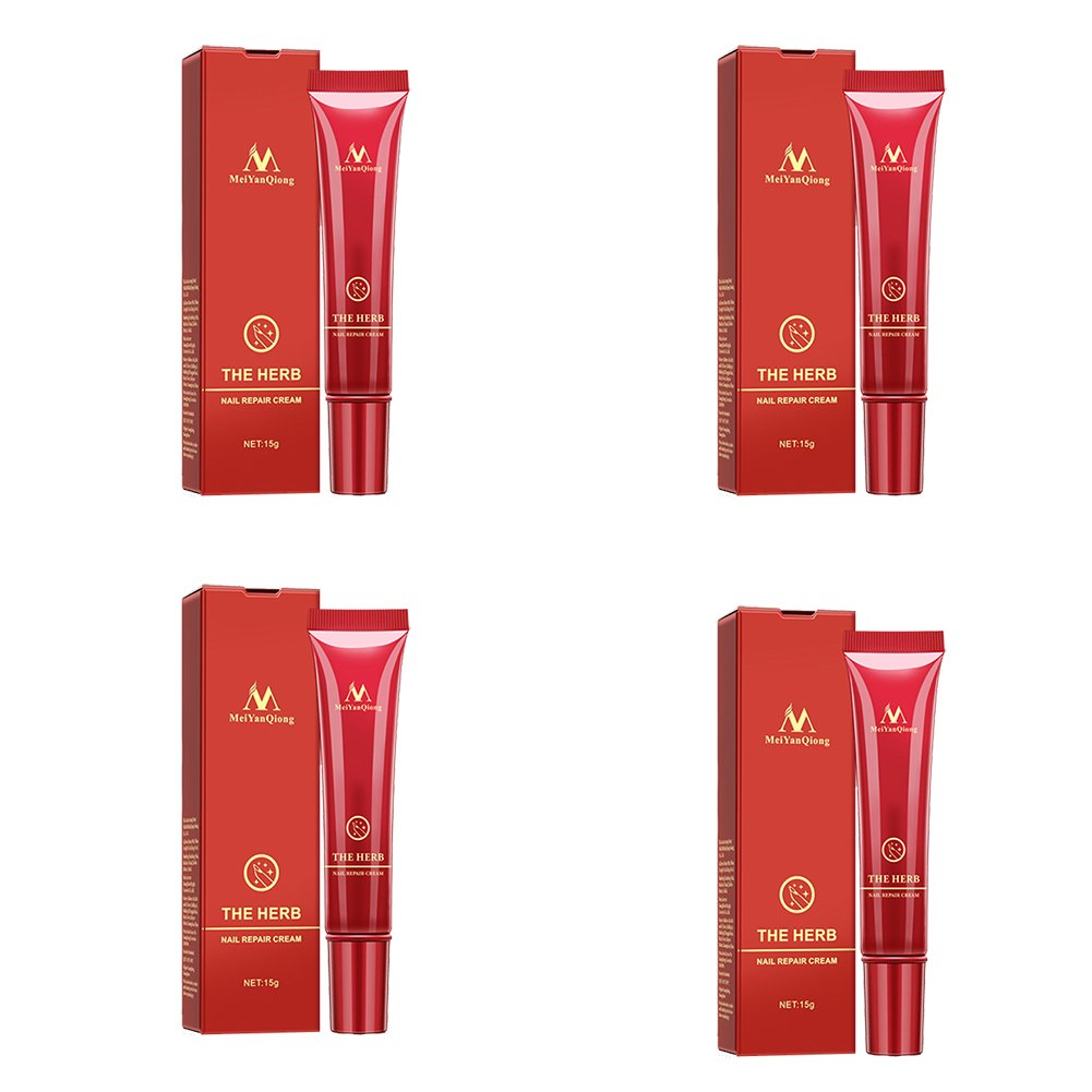 Tulas Nail Repair Cream Herbal Nail Fungus Treatment Herb Foot Protector Skin Care Cream (4 Pcs)