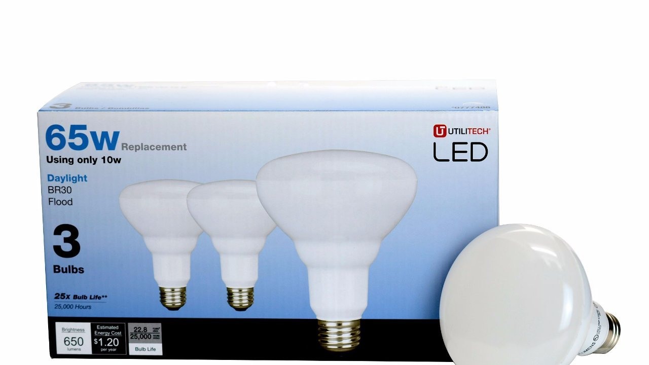 Utilitech 3-Pack BR30 Daylight 65W Equivalent 10W Dimmable 5000K
