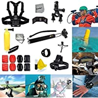 Xtech Ideal 26 Pc. Accessory Kit for GoPro HERO4 Hero 4, GoPro Hero3+ Hero 3+, GoPro Hero3 Hero 3, GoPro Hero2 Hero 2, GoPro Surf Hero, GoPro Hero Naked, GoPro Hero 960 Digital Cameras Includes: Adjustable Head Strap Mount+ Chest Strap Mount + Extendable Handle Monopod + Sealed Floating Bobber Handle + Bicycle Handlebar + Remote Wrist Stap Mount + Flat/ Curvy Adhesive Sticky Mounts + Mini Tripod + Memory Card Case + Deluxe Cleaning Kit + Ultra Fine HeroFiber Cleaning Cloth