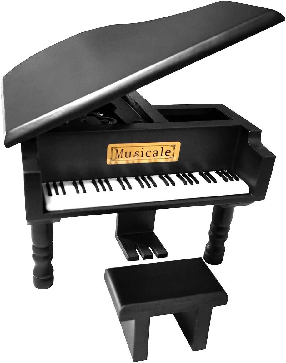 caja de música con forma de piano
