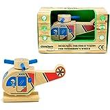 致暖Warmest 儿童拆装车组合小车模型惯性木质宝宝拼装玩具出口玩具益智早教汽车模型迷你汽车模型 (直升机)