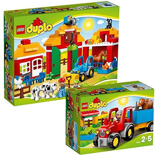 LEGO Duplo 2-teiliges Set 10524 10525 Traktor + Großer Bauernhof