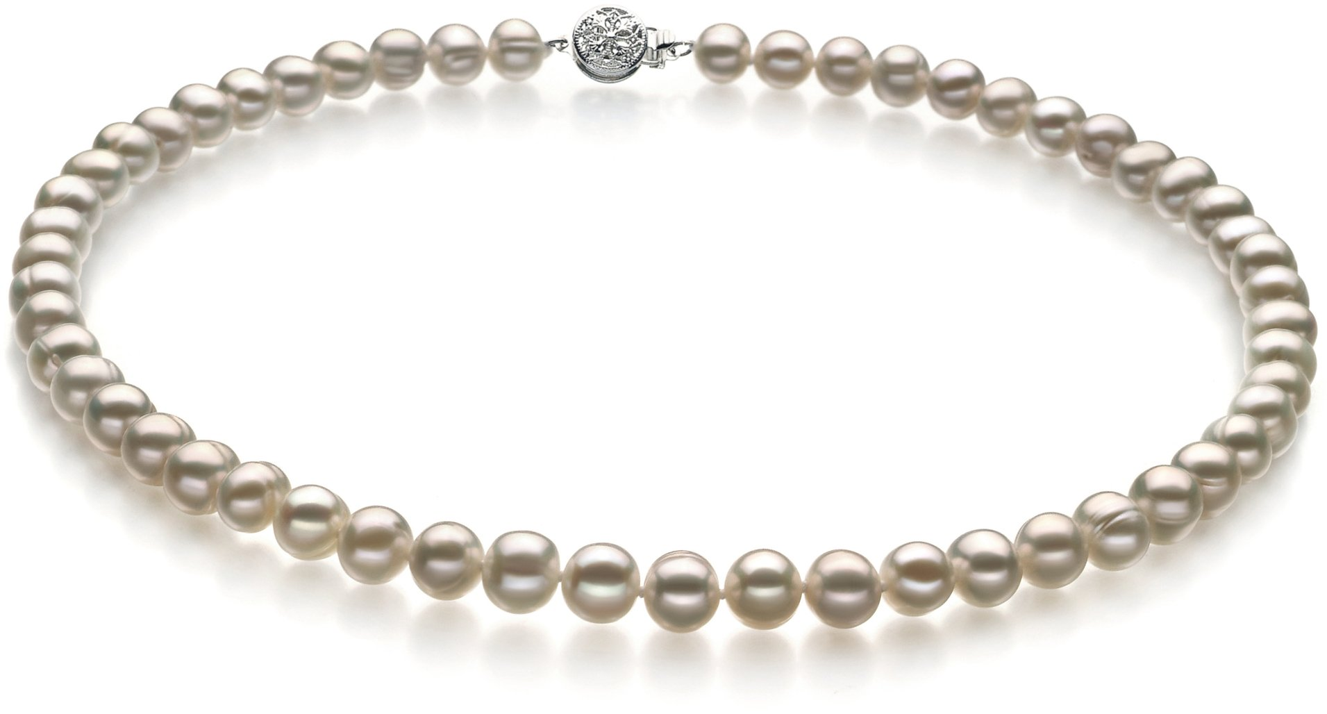 Bliss White 6-7mm A Quality Freshwater Cultured Pearl Necklace-18 in Princess length