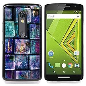 - Pastel Teal Pink Pattern/ Duro Snap en el tel????fono celular de la cubierta - Cao - For Motorola Verizon DROID MAXX 2 / Moto X Play