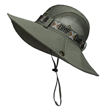 497ceb85288 LETHMIK Boonie Hat Summer Fishing Sun Outdoor UV Protection Camouflage Hats  with Chin Cord Army Green  Amazon.ca  Sports   Outdoors