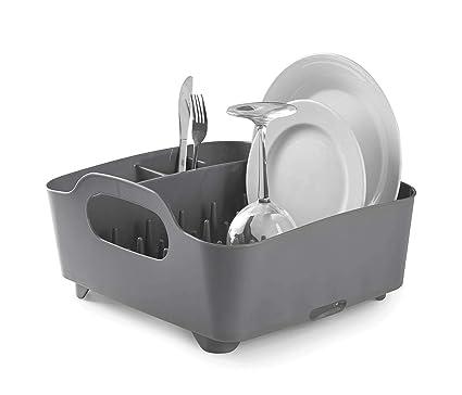 Umbra 330590-149– Escurridor de platos y vasos, 36x32,5x15,5cm, color gris