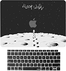 jvomk MacBook Air 13 inch Case 2020 2019 2018 Release A2179 A1932 with Retina Display, Funny Plastic Hard Shell Case & Keyboard Cover for MacBook Air 13 with Touch ID (Moon Walk)