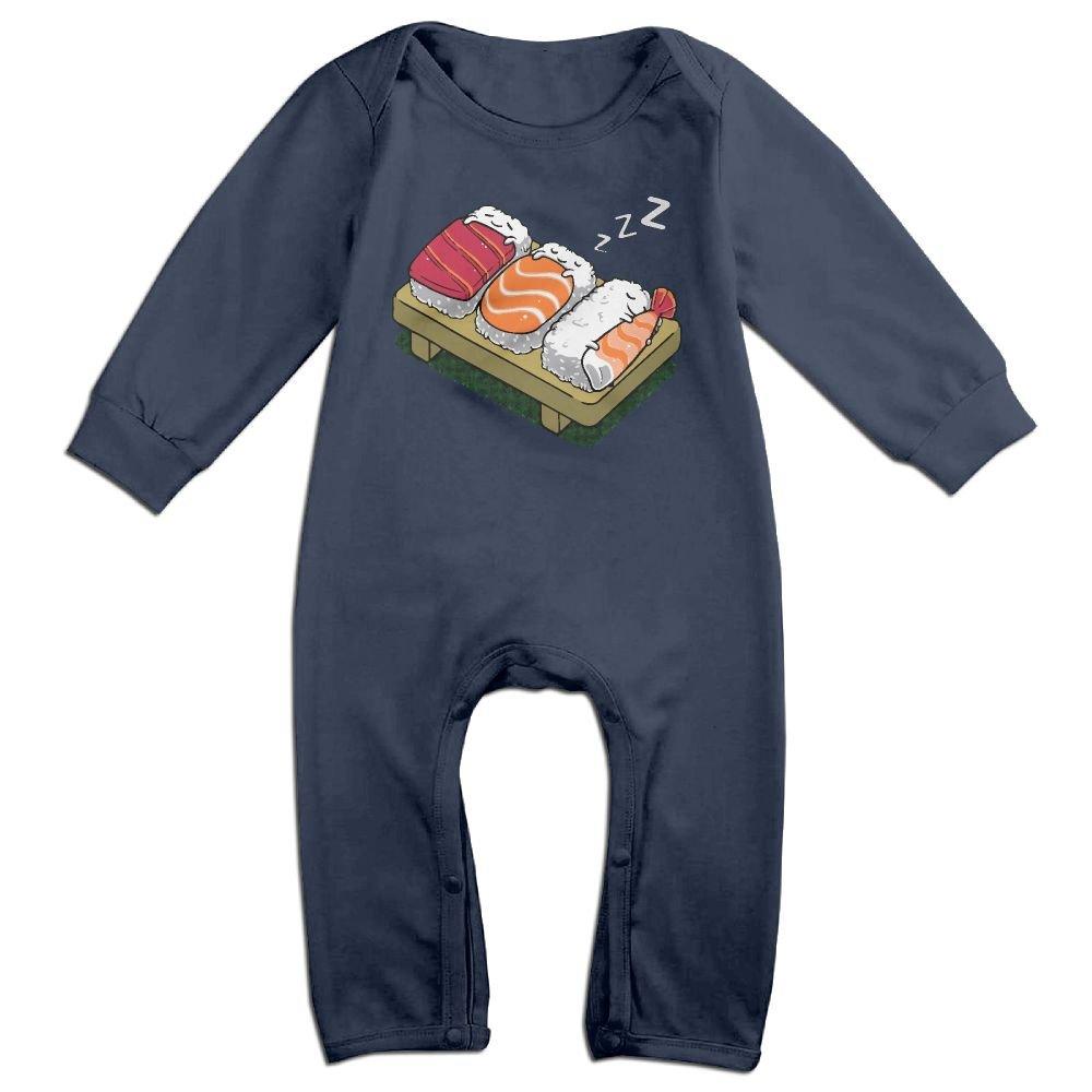 Mrei-leo Baby Girls Organic Coverall Sleeping Sushi Baby Rompers