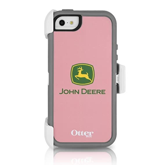 info for c13d6 44a21 OtterBox DEFENDER SERIES Case for Apple iPhone 5 - John Deere Pink  (White/Gunmetal Grey with Pink John Deere) (Discontinued by Manufacturer)