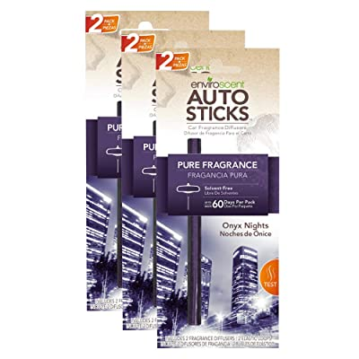 Enviroscents Auto Sticks Natural Car Air Fresheners, 3-Pack with 6 Sticks (Onyx Nights): Automotive [5Bkhe1507107]