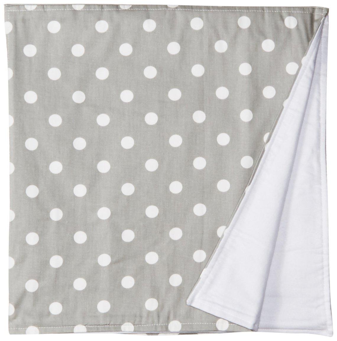 New Arrivals Zig Zag Baby Crib Blanket-White & Gray