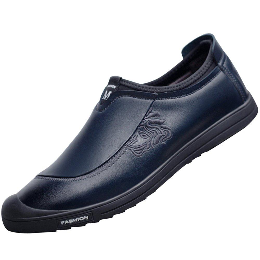 MYXUA Sandalias De Cuero De Los Hombres Zapatos Casuales Zapatos De Conducción De Fondo Suave Moda Transpirable Hueco 38EU/5US|8