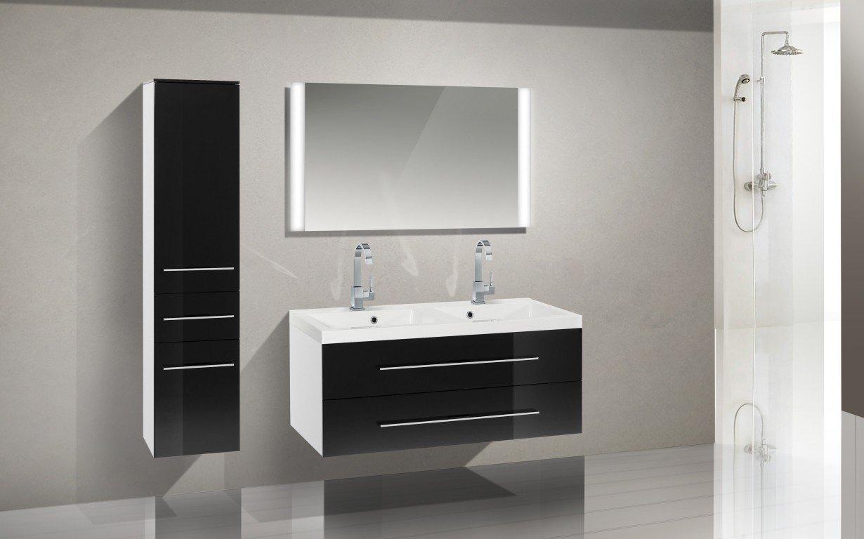 Badmöbel Set mit Waschbecken und 120 cm Doppelwaschtisch online ...