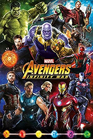 Avengers: Infinity War Characters Maxi Poster Paper Multi-Colour 61 x 91.5 cm