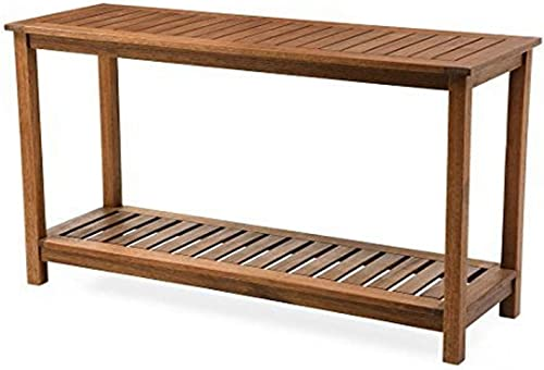 Plow Hearth 62A40-NT Lancaster Outdoor Furniture Collection Eucalyptus Wood Console Table