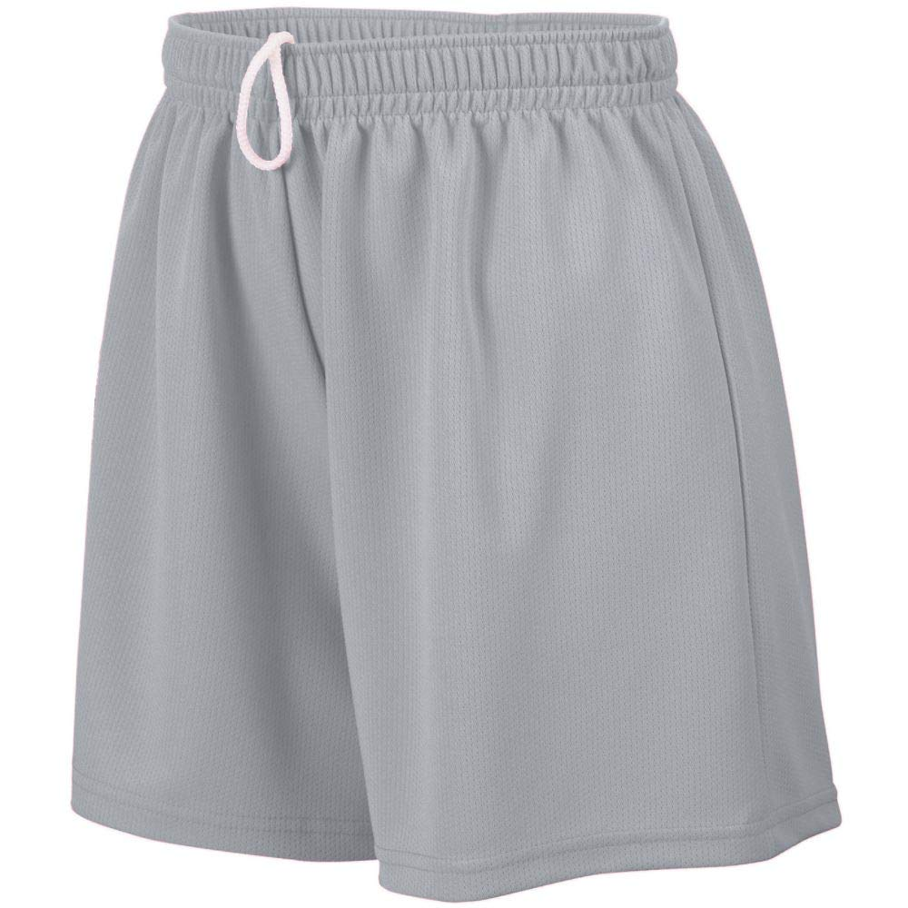 Augusta Sportswear Augusta Girls Wicking Mesh Short, Silver Grey, Medium by Augusta Sportswear