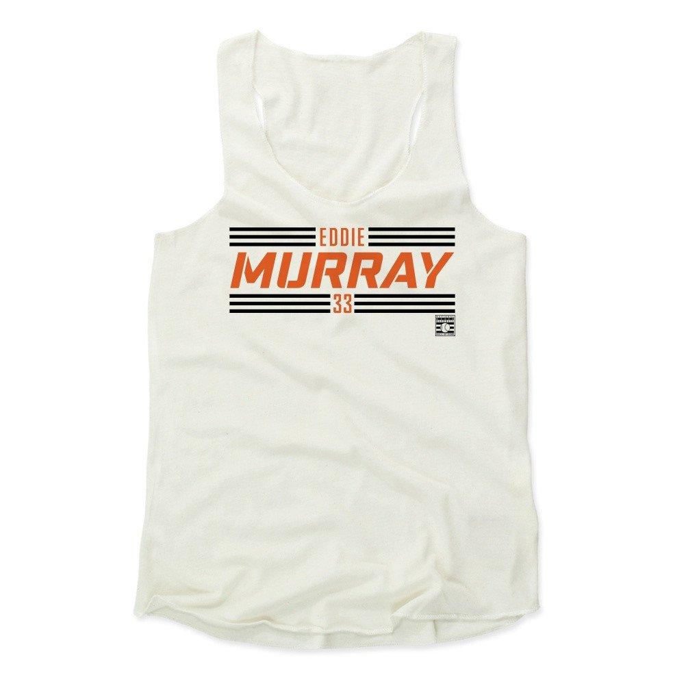 Eddie Murray Striped Font O Baseball Hall of Fame Women's Tank Top