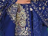"NovaHaat Navy Blue Ladies Stoles Zari Embroidery Wool Fashion Kashmir Wrap 78"""