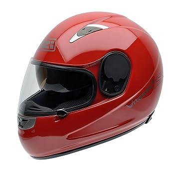 NZI Vitesse II S Casco de Moto, Rojo, 60-61 (XL)