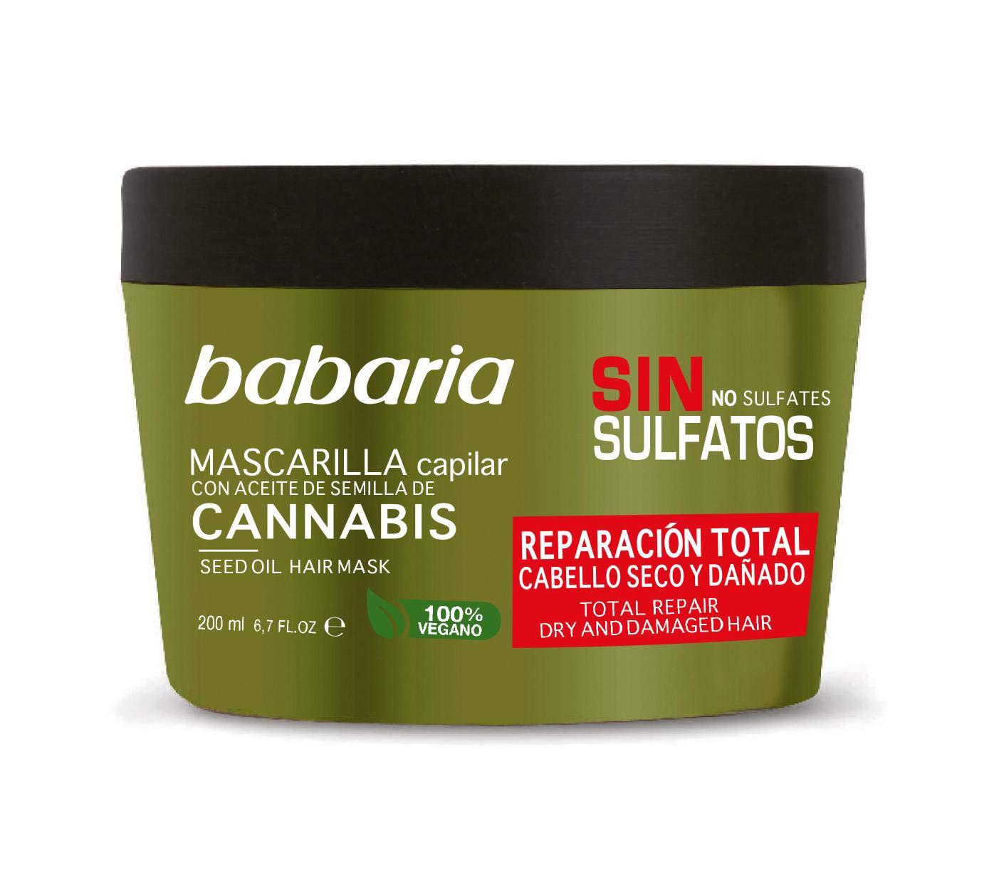 Babaria Cannabis Mascarilla Reparadora, 200 ml