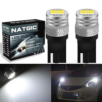 Bombillas LED para el interior del coche de 1800 lúmenes de NGCAT, 4 SMD 3020 CREE T10 168 2825 DC 10-16V Xenon blanco (2 unidades): Amazon.es: Coche y moto