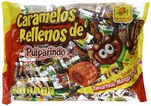 Pulparindo Carmelos Con Relleno Chamoy Mango Tamarindo Mexican Candy 100 Pcs by de la Rosa
