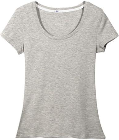 Camiseta Blanca de algodón Puro para Mujer, Camiseta de Manga ...