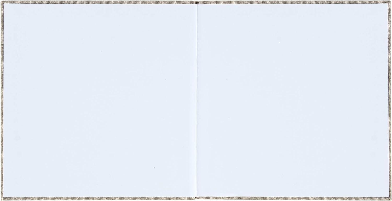 Taufe Beige-Gold//Perl-Weiss Konfirmation DeinWeddingshop G/ästebuch 104 Seiten blanko wei/ß Geburtstag Hardcover 21x21cm Kommunion Premium Buchbinder-Leinen mit Pr/ägung f/ür Hochzeit