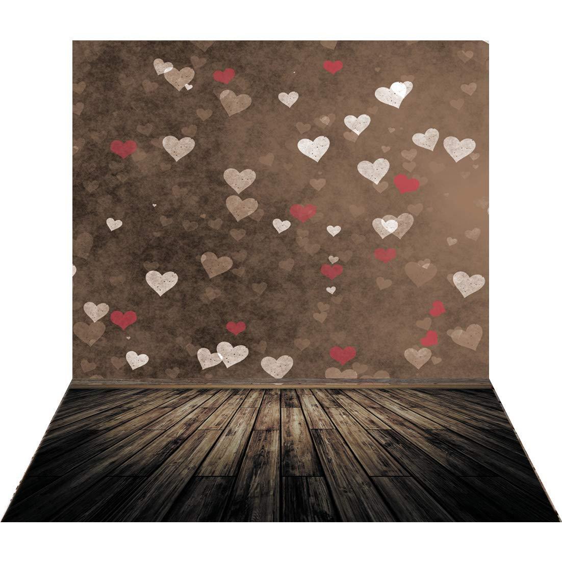 バレンタインデー。 5X7FT Valentine's Day background 10-876 B07L6SM53J