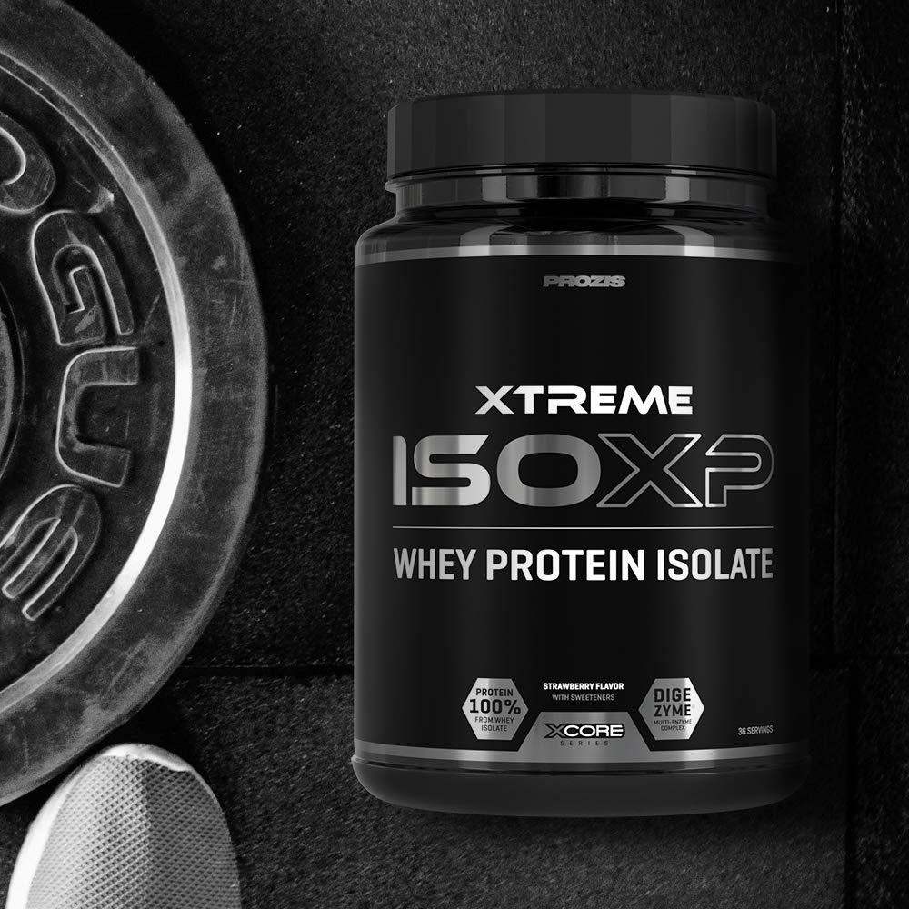 Xcore Xtreme Iso-XP Whey Protein Isolate 900 g: Suplemento con Sabor a Fresa - Favorece el Crecimiento y el Mantenimiento de la Masa Muscular - Sin ...