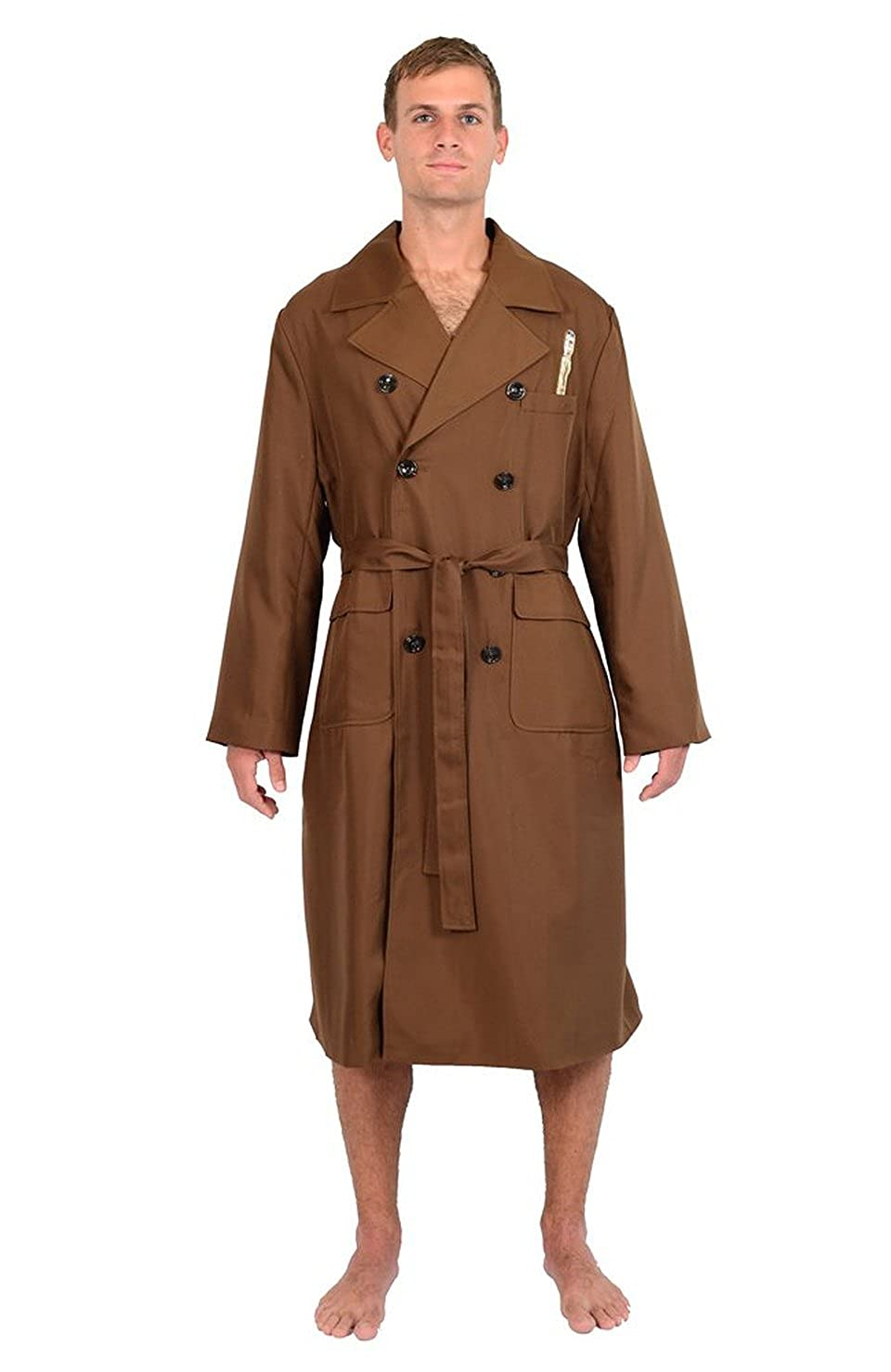 dbee883e78 Top1  Doctor Who 10th Doctor Brown Trench Coat Jacket Styled Robe Multi One  Size Fits Most