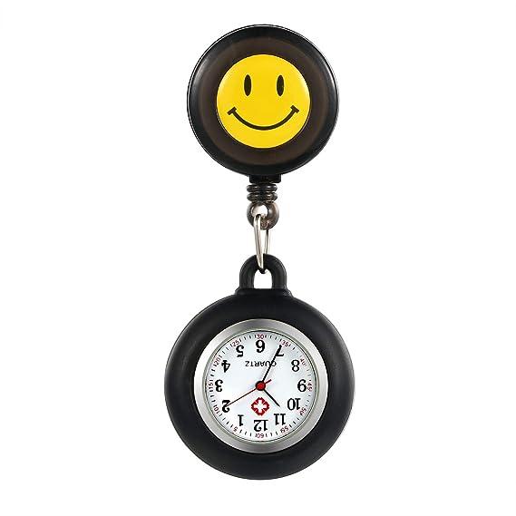 lancardo Relojes, Silicona Enfermera Reloj de Pulsera Fob Reloj de Mujer Sonrisa Digital Analog Revers elástico Ajustable Longitud Reloj de Bolsillo: ...