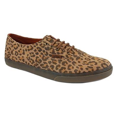 vans authentic lo pro leopard suede purse