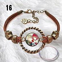 Cool Leather Bracelet chain for Anime Akagami no Shirayuki-hime Cos Gift B
