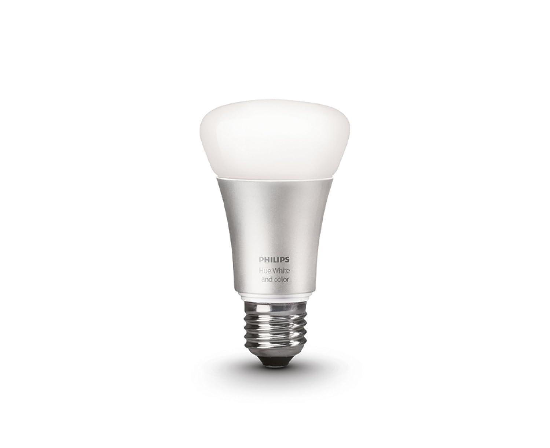 Philips Hue LED Lampe E27 Erweiterung 2. Generation, dimmbar, 16 Mio Farben, funktioniert mit Amazon Alexa
