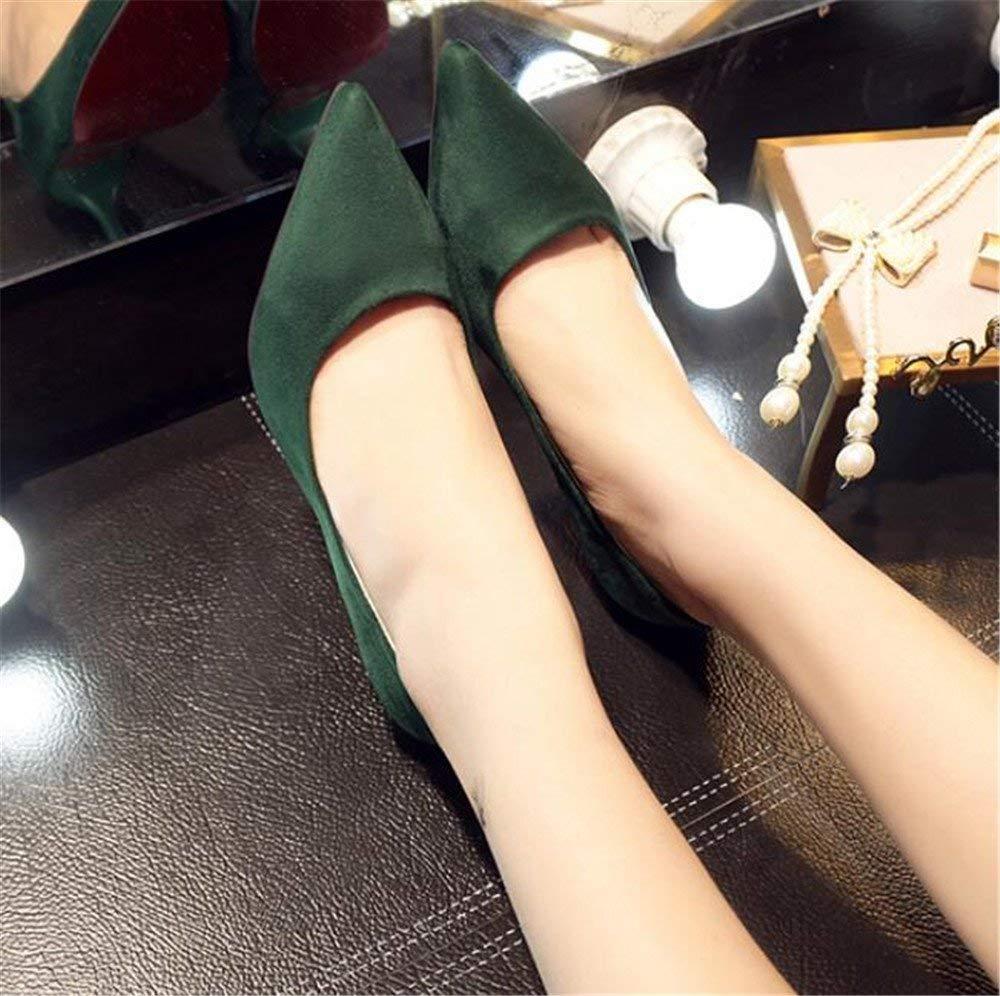 Willsego Pumps High Heels Schuhe Spitze 6 cm fein mit Arbeitsschuhe Spitze Schuhe mit Pendlerschuhen flach Mund Schuhe (Farbe  34, Größe  Schwarz Silber) 10 cm 0835a8