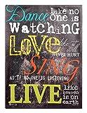 Dance Like No One is Watching 16 x 12 Black Chalkboard Style Canvas Wall Art