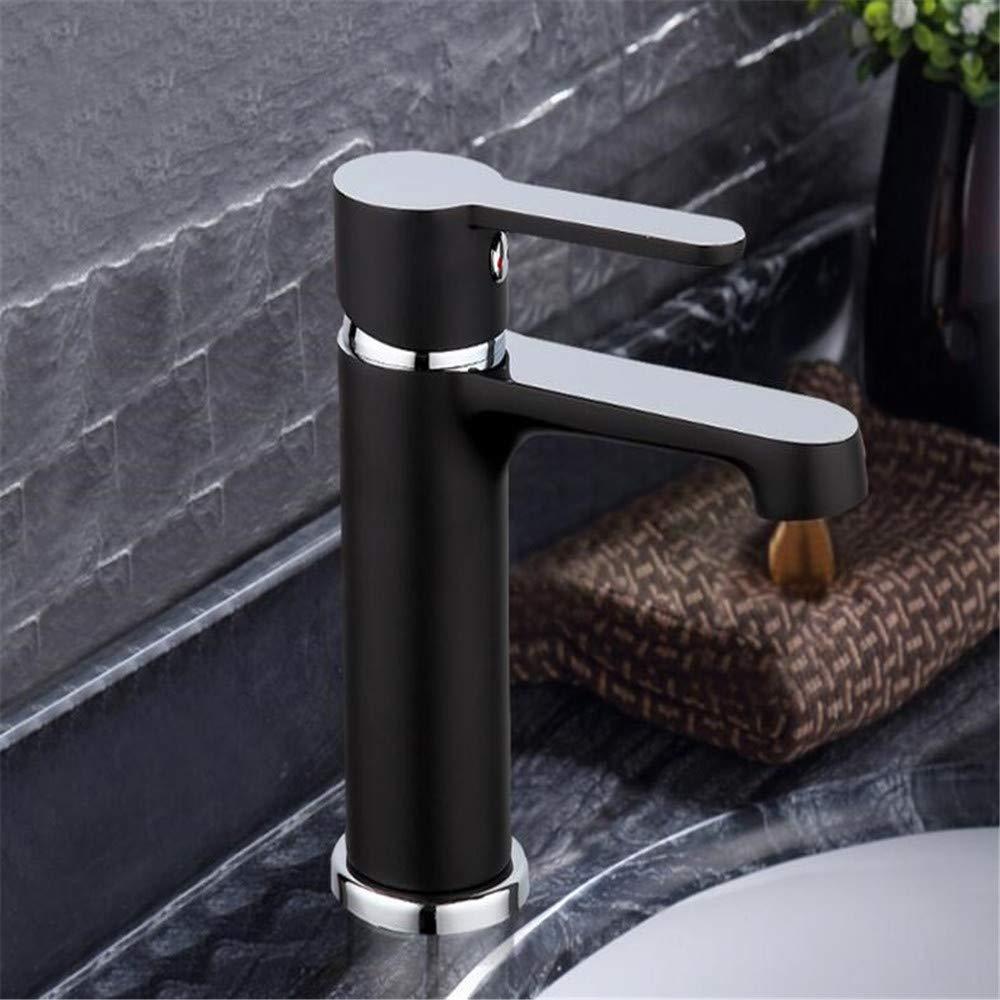 Estilo Estilo Estilo innovador Moda Baño para el hogar Lavabo Grifo Agua fría y caliente Grifos Mezclador de baño negro bc253c