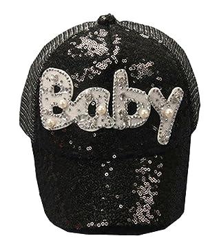 Gorra de béisbol de Corea niños de onda de Hip-Hop Sombrero bordado BEBÉ 3-8 años (Negro): Amazon.es: Bebé