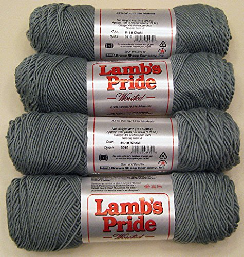 Yarn Place Brown Sheep Lambs Pride Worsted Weight Khaki 4 skeins - First